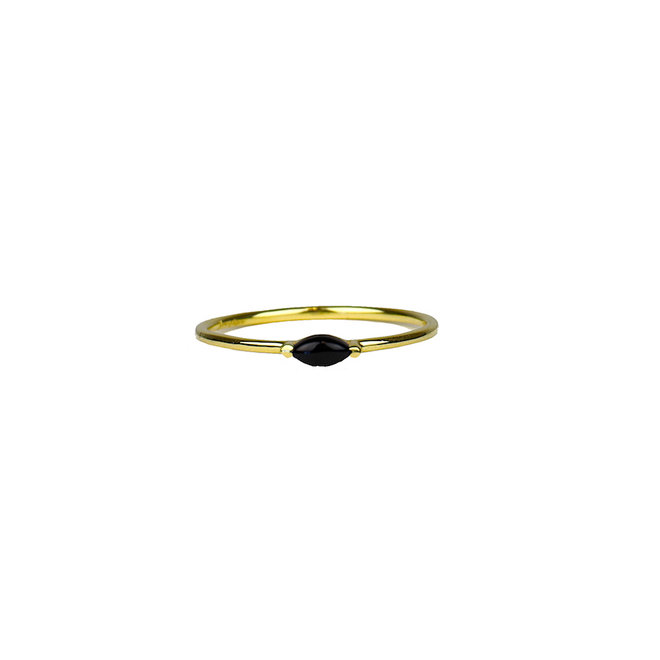 Gold Eye - Black Onyx | gouden ring