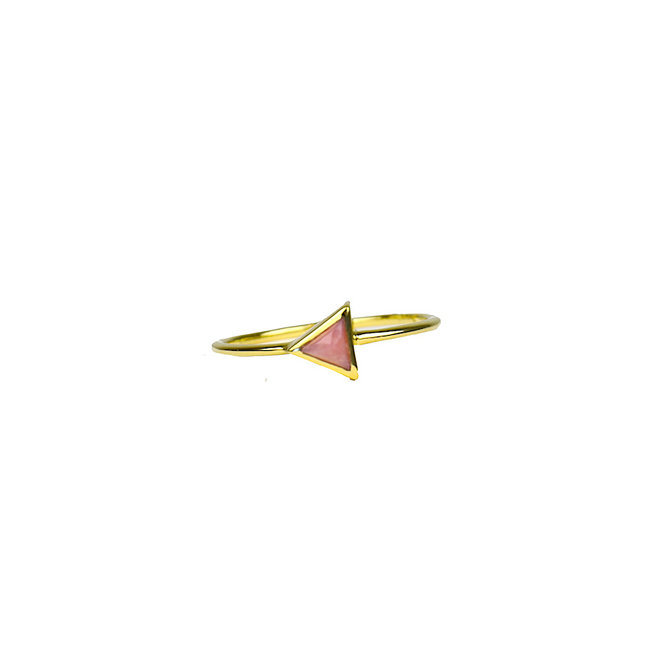 Gold Triangle - Pink Opal