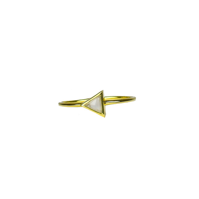 Gold Triangle - Moonstone | gouden ring