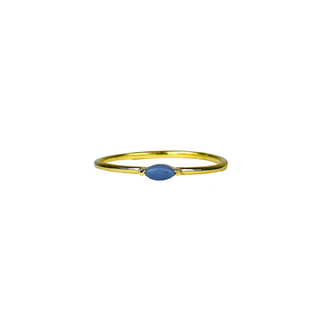 Gold Eye - Blue Opal | gouden ring