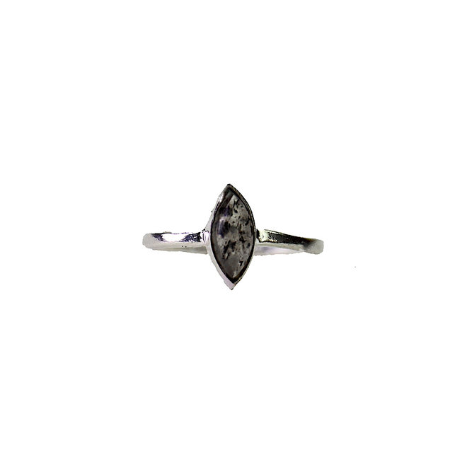 Silver Black Sunstone | zilveren ring