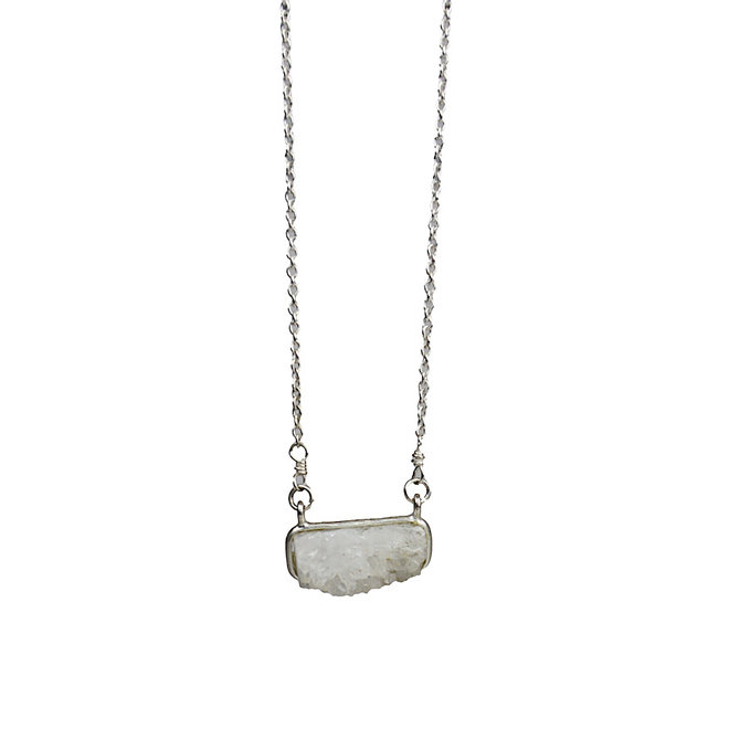 White Druzy necklace silver