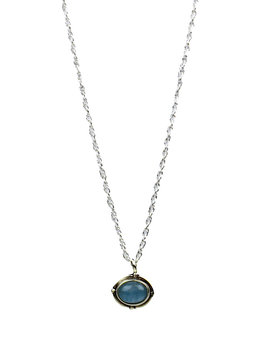 Aquamarine Fever necklace silver