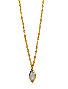 Elegance Moonstone necklace gold