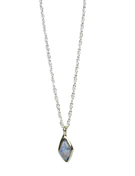 Elegance Moonstone necklace silver