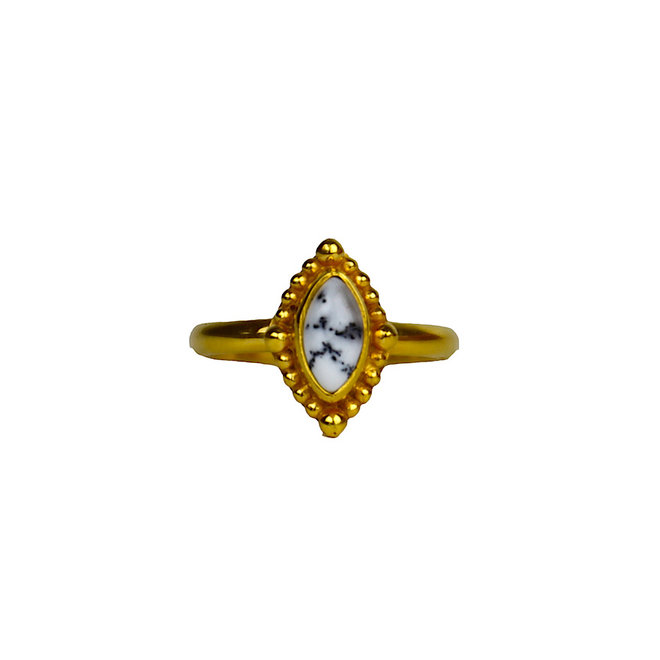 Dendrite Power ring gold