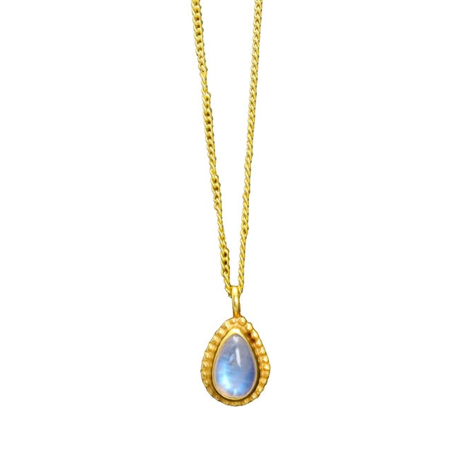 Moonstone Drop necklace gold