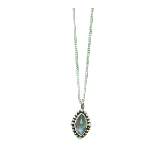 Labradorite Power necklace silver