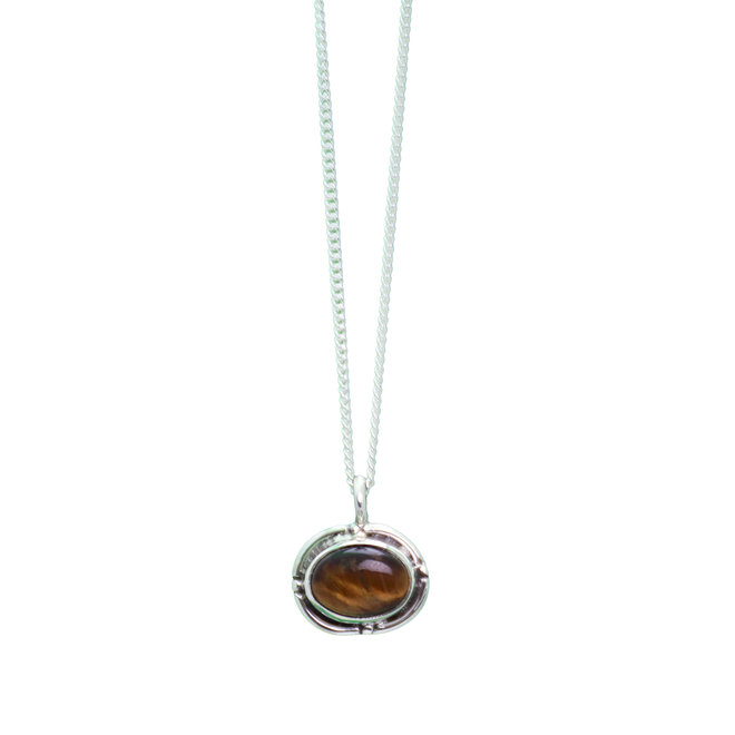 Tiger Eye Fever necklace silver