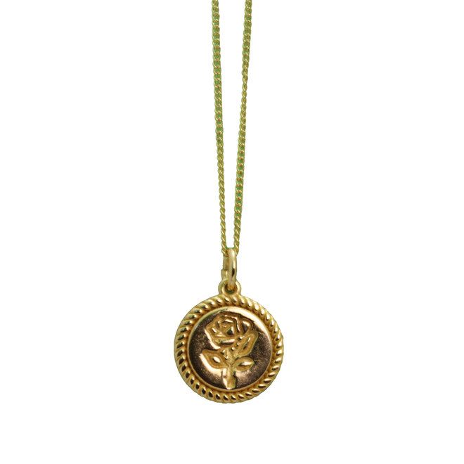 Lucky Flower Coin necklace gold