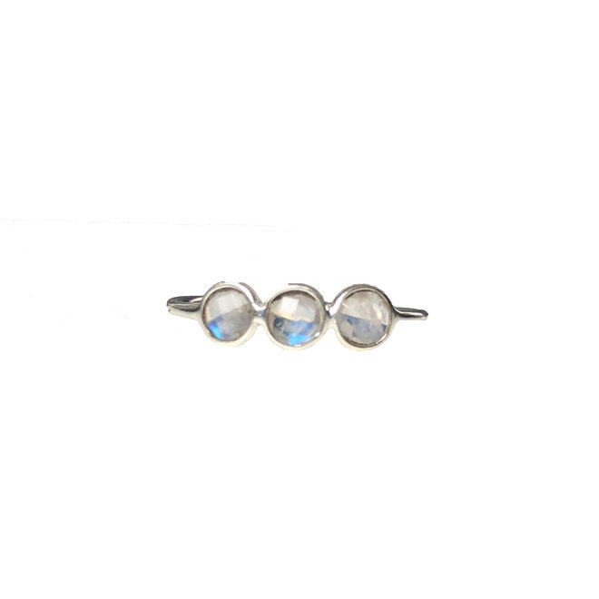 Moonstone Rounds ring silver