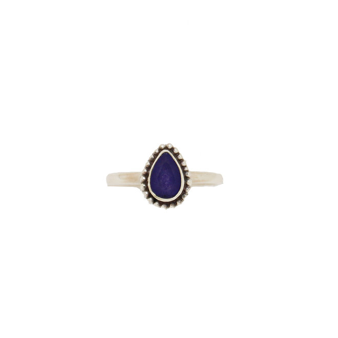 Sapphire Drop ring silver