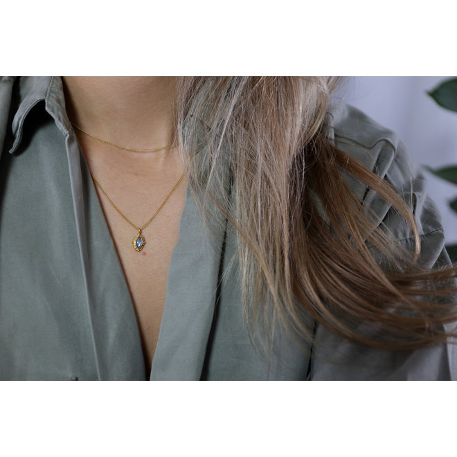Labradorite Power necklace gold