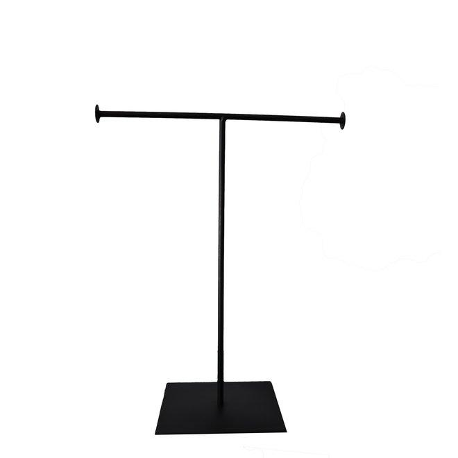 Sieradenhouder kettingen - Zwart - 24x28 cm