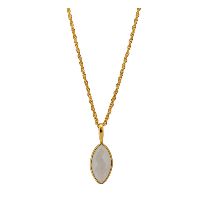 Marquise Moonstone necklace gold