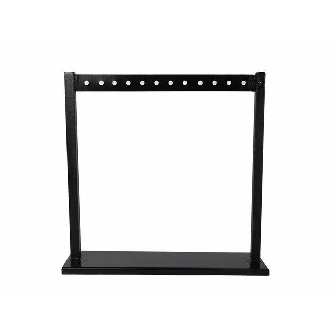 Sieradenhouder oorbellen - Zwart - 21,5x21,5 cm