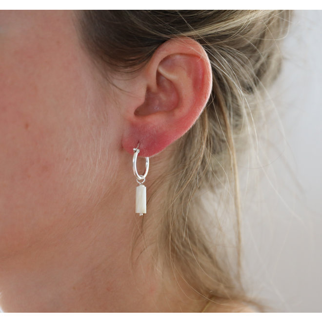 Mother Of Pearl Earring Silver