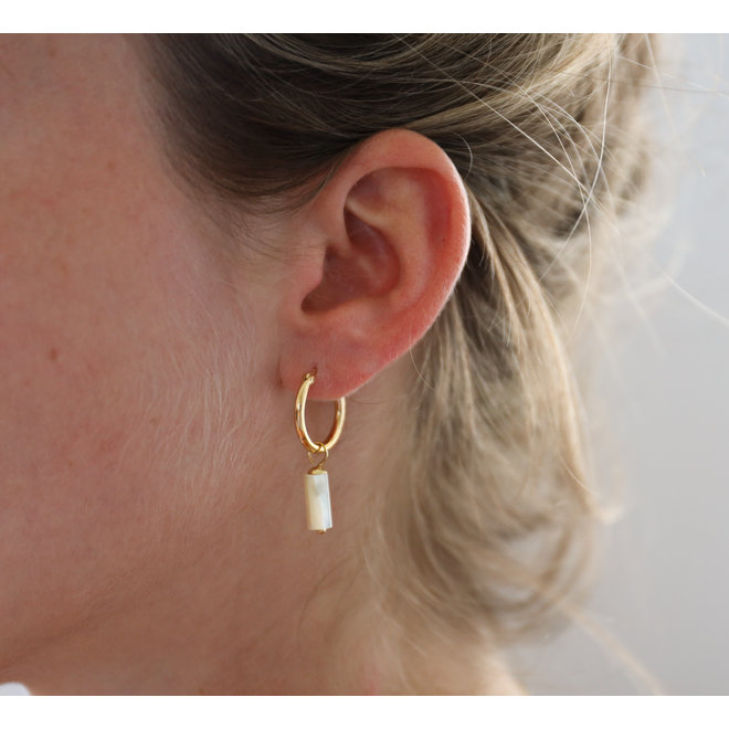 Mother Of Pearl Earring Gold