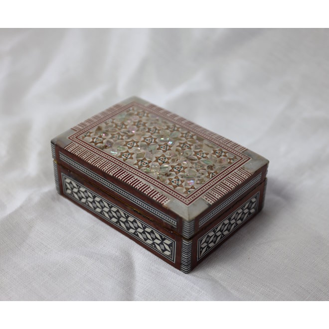 Mother Of Pearl Jewelry box - 12,5x8,5x4,6cm