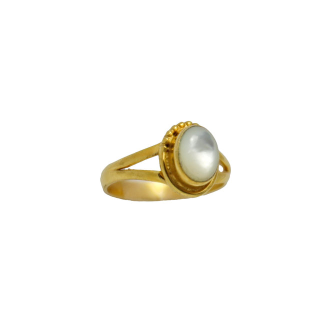 Gold Mother of Pearl | gouden ring