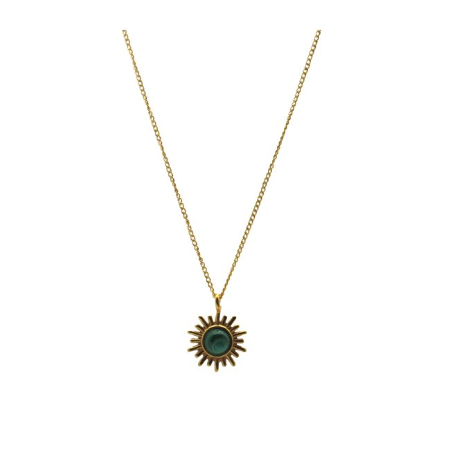 Sunny Malachite Necklace Gold