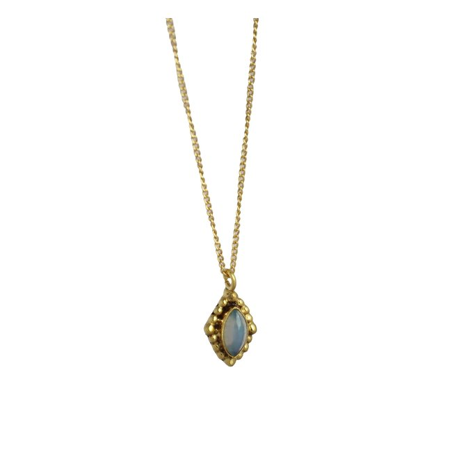 White Opal Power necklace gold