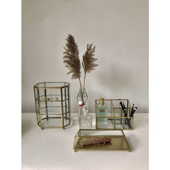 Glazen box - Goud - 22x9x6 cm