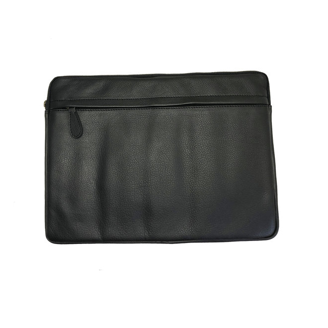 Laptop Sleeve Black Leather - 13 to 17 inch