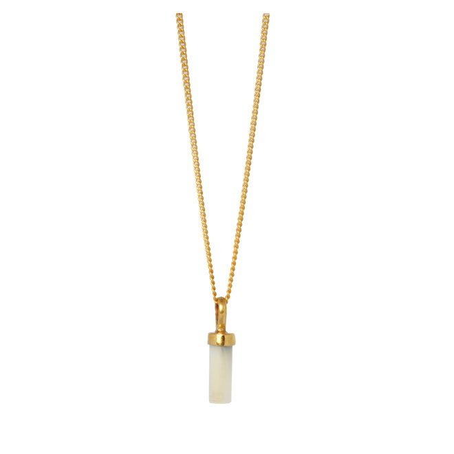 Lucky Mother Of Pearl necklace gold