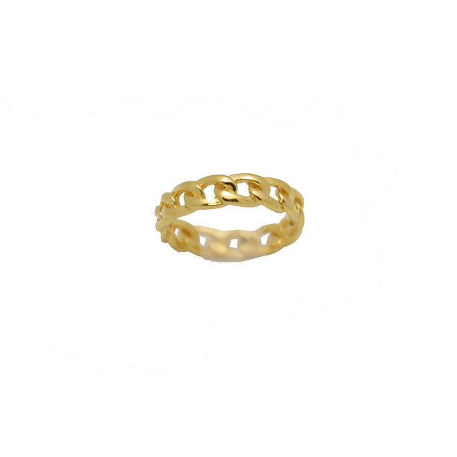 Chain ring gold