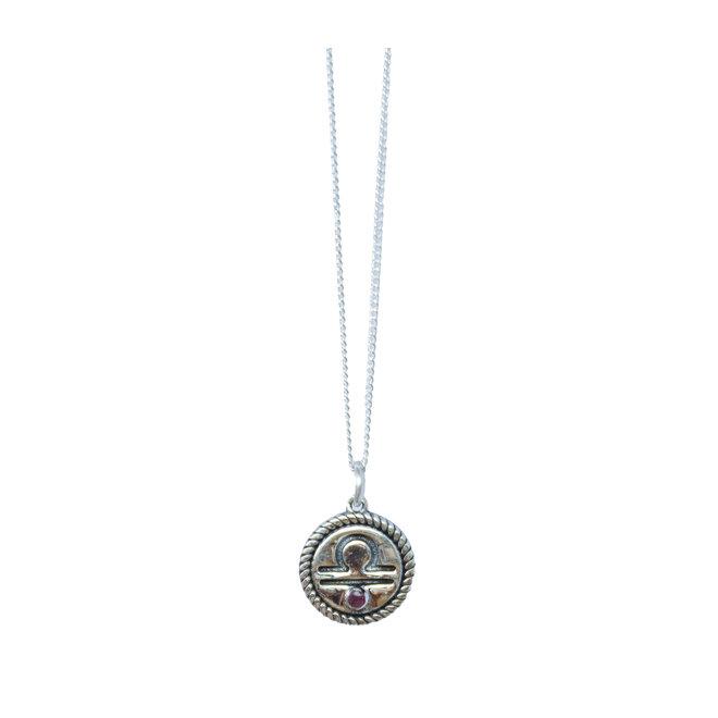 Weegschaal Sterrenbeeld ketting zilver