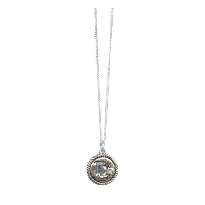 Maagd Sterrenbeeld ketting zilver