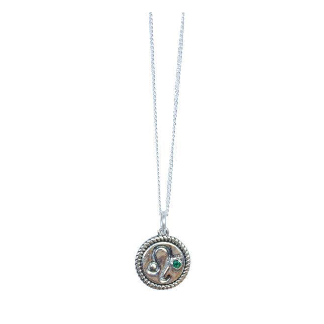 Leeuw Sterrenbeeld ketting zilver