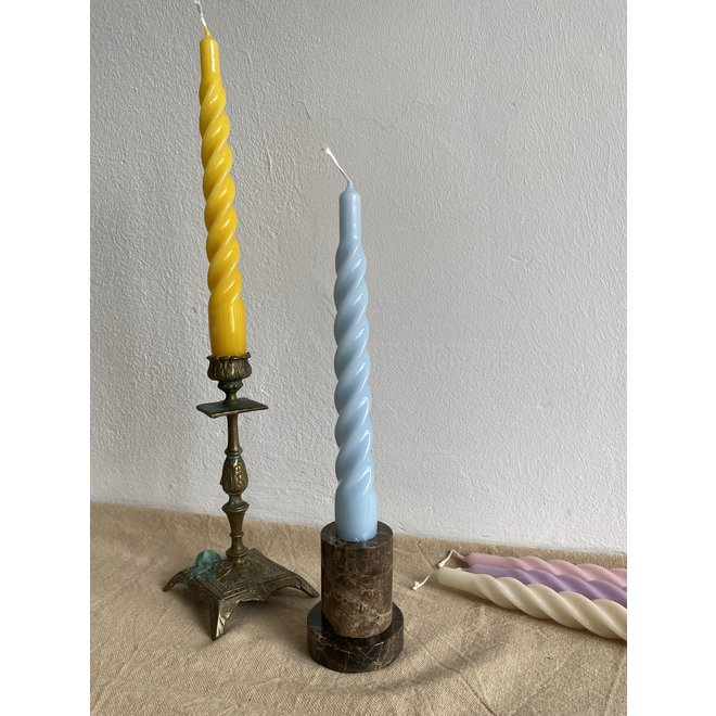 Yellow Twisted Candle Set