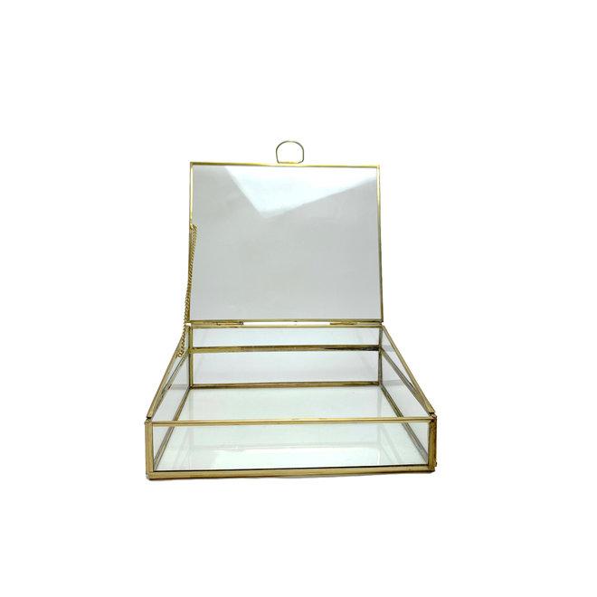 Glazen Box Vitrine - Goud