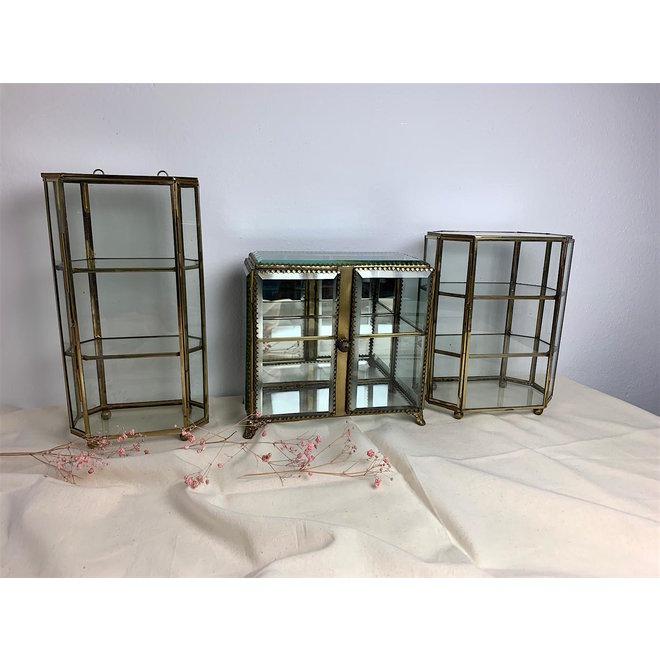 Glazen box met Verdiepingen - Hexagon  - Goud