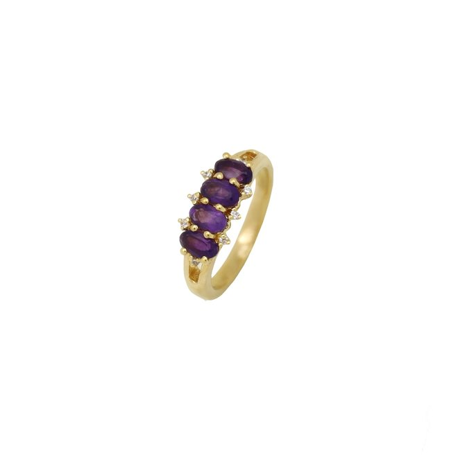 Vintage Nila Amethyst ring gold