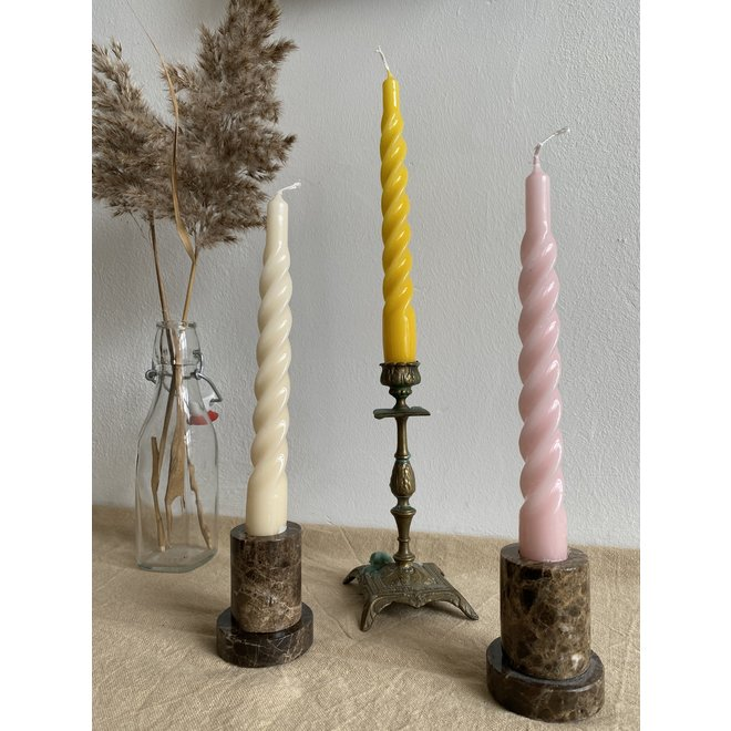 Silver Twisted Candle Set