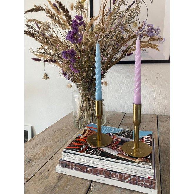 Fuchsia Twisted Candle Set