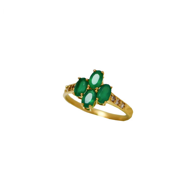 Vintage Green Onyx ring gold