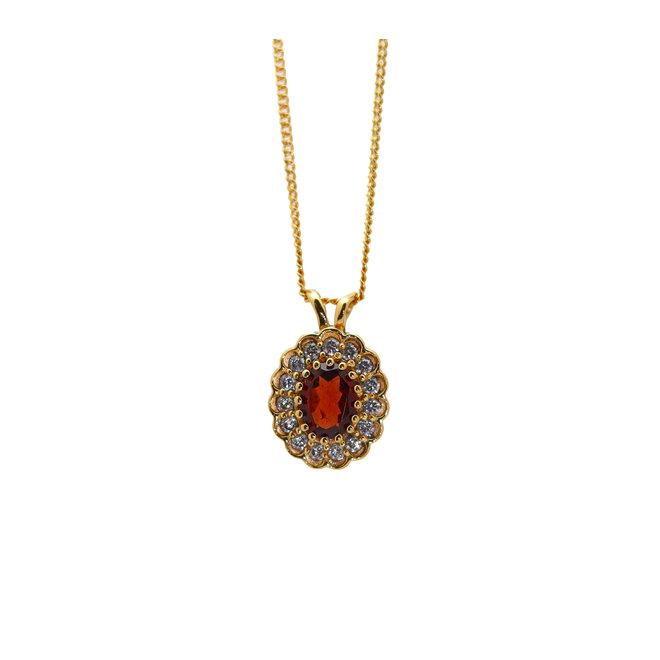 Vintage Garnet necklace Gold