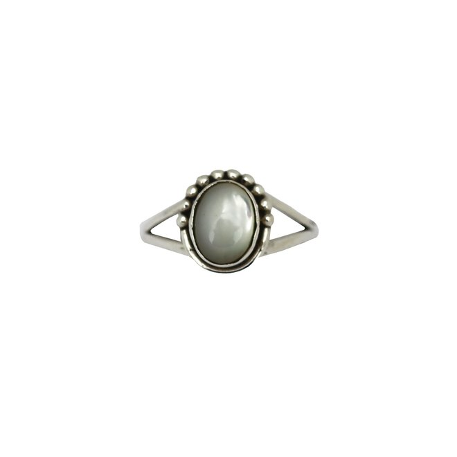 Silver Mother of Pearl ring