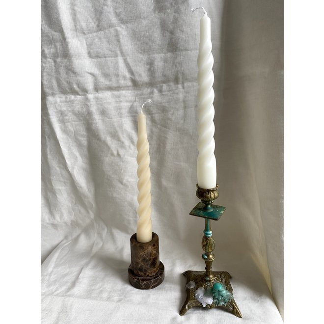 Matt White Twisted Candle Set