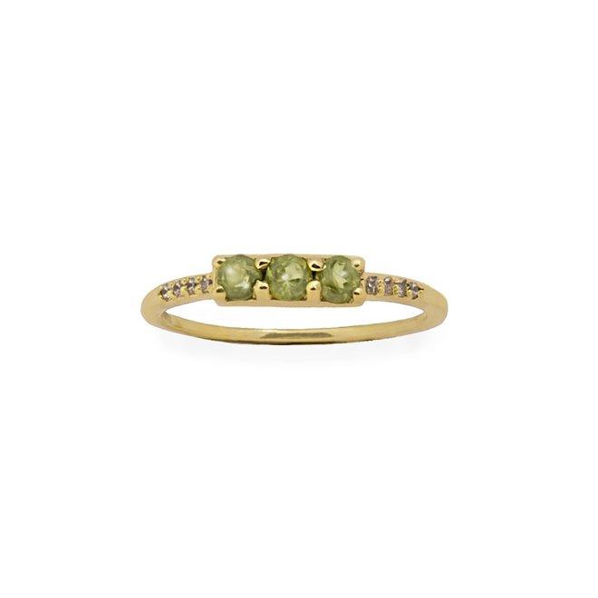 Vintage Peridot combo ring gold