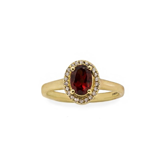 Vintage Garnet ring gold