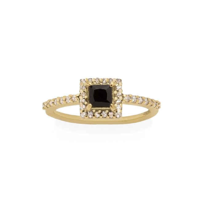 Vintage Royal Onyx ring gold