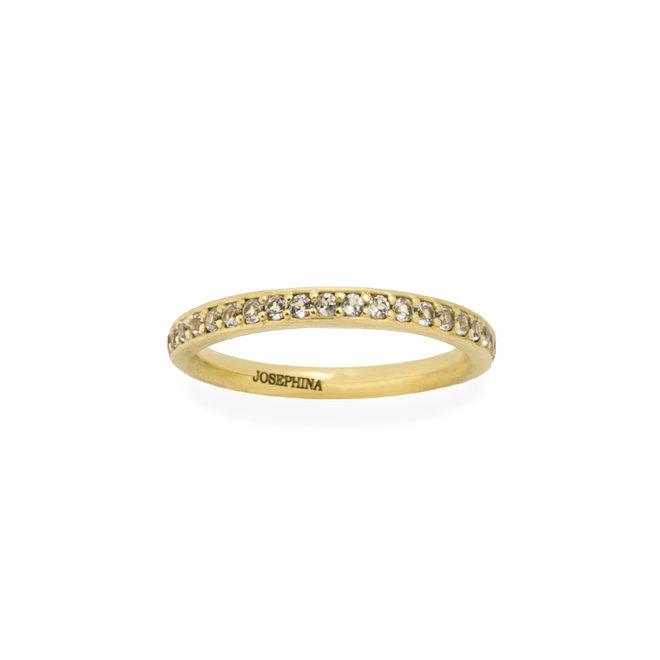 Pavé White Topaz ring gold