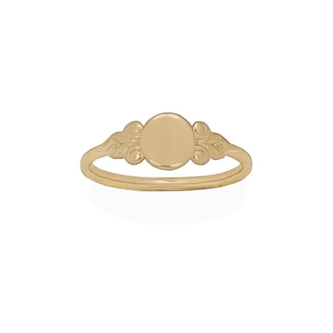 Bohemian Signet ring | 9K Solid Gold