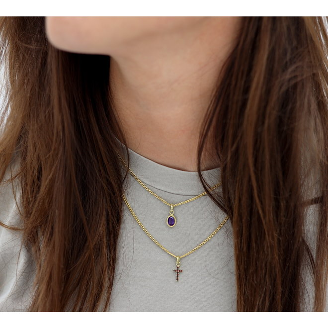 Tiny Chain Necklace Gold