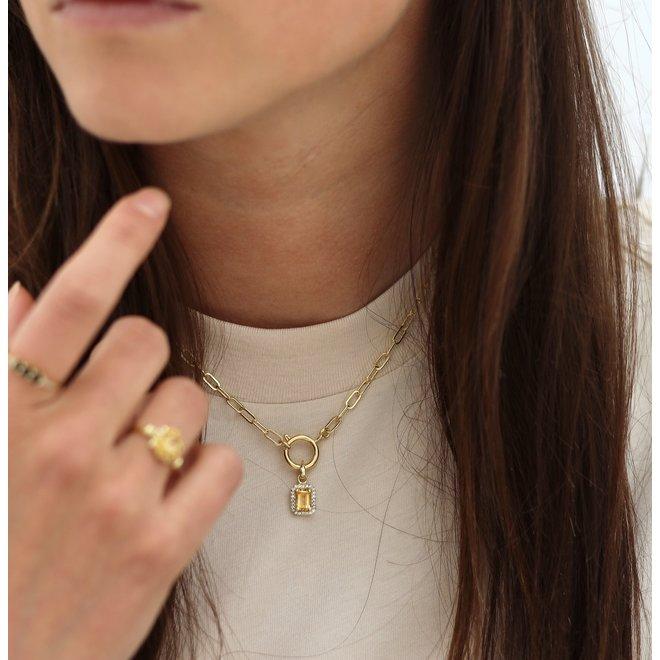 Square Chain Necklace Gold